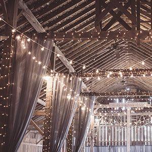 lighting at a wedding