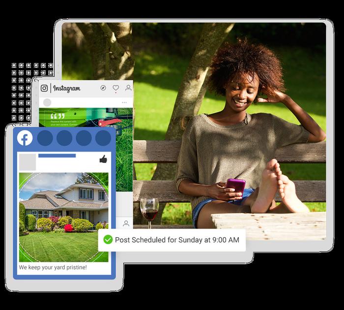 lawn care social media marketing