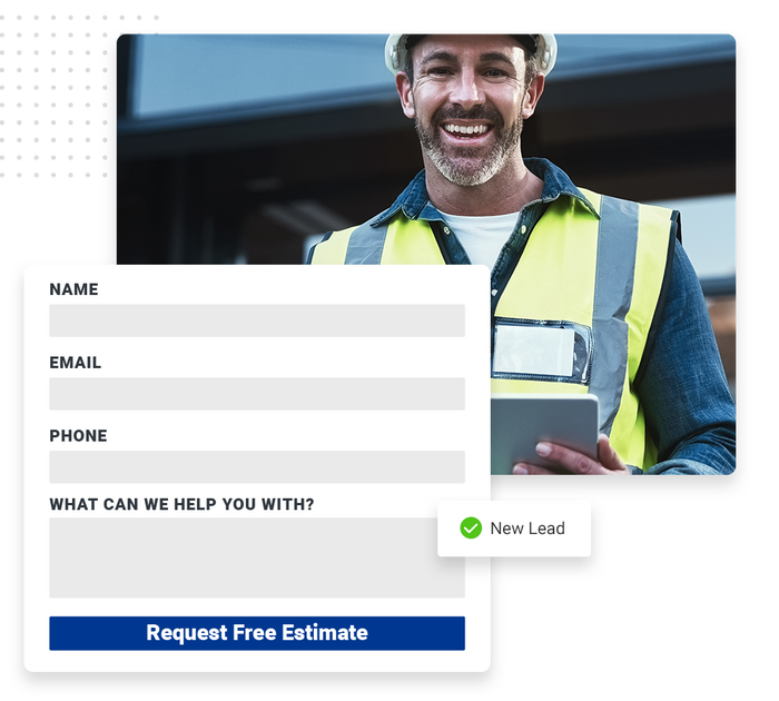 Contractor website forms