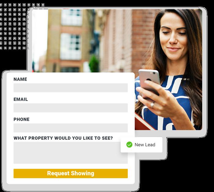 real estate website forms