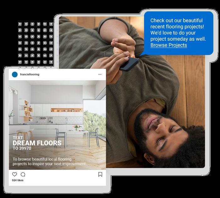 Flooring text message marketing