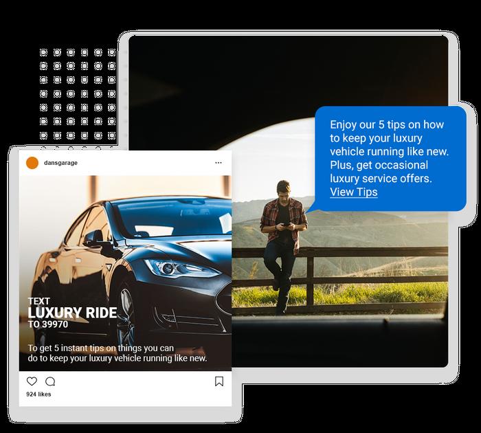 Auto shop text message marketing