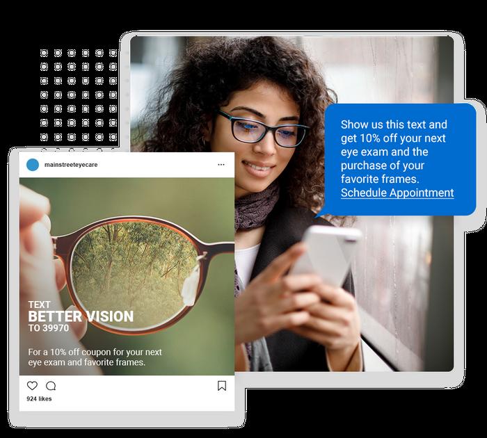 Optometrist text message marketing