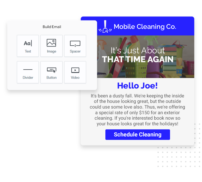 House cleaning email marketing