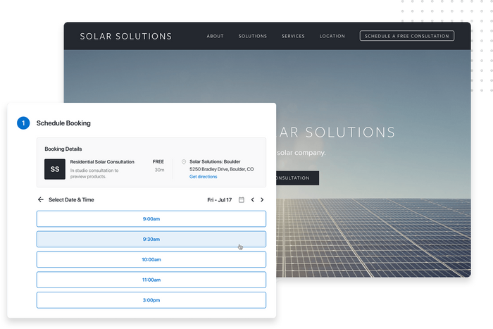 Solar company scheduling software
