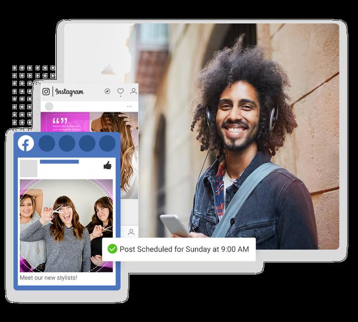 salon social media marketing