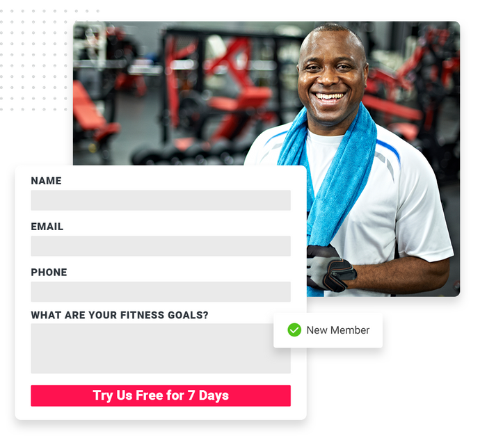 Fitness website forms