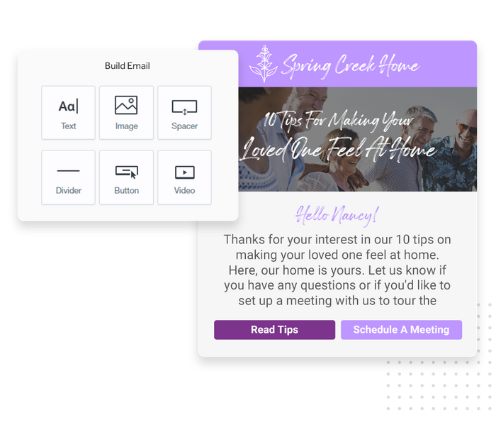 Assisted living email marketing