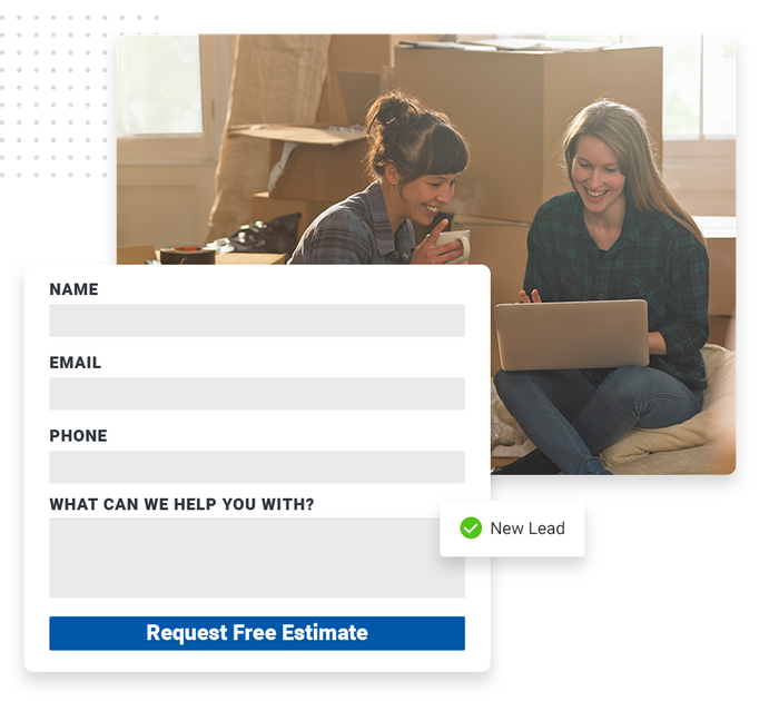 moving company website forms