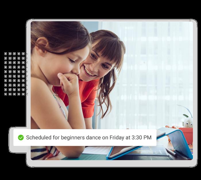 Dance studio scheduling software