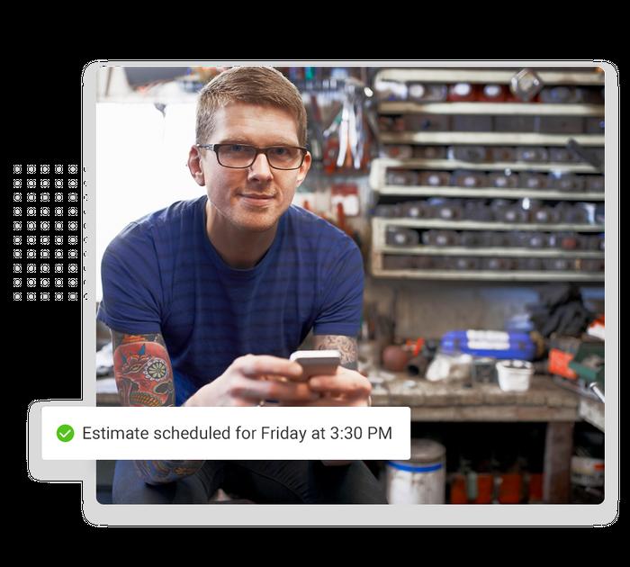 Garage door contractor scheduling software