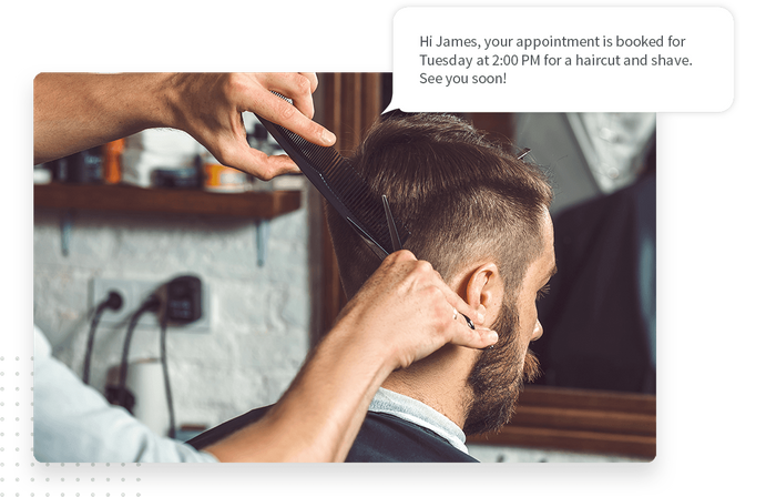 Barber marketing text message