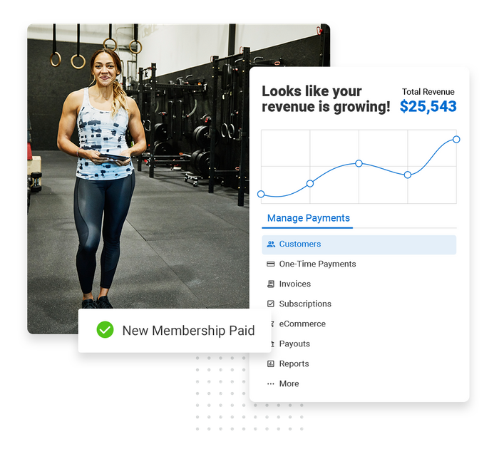 Fitness payments software