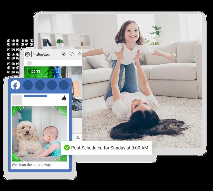 Carpet cleaning social media management