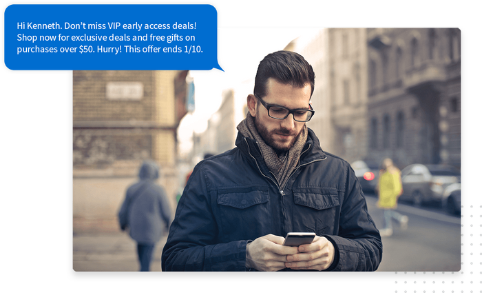 Text message marketing exclusive offer