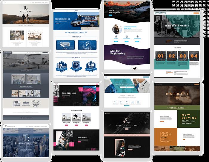 Small business website design templates