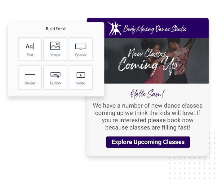 Dance studio email marketing