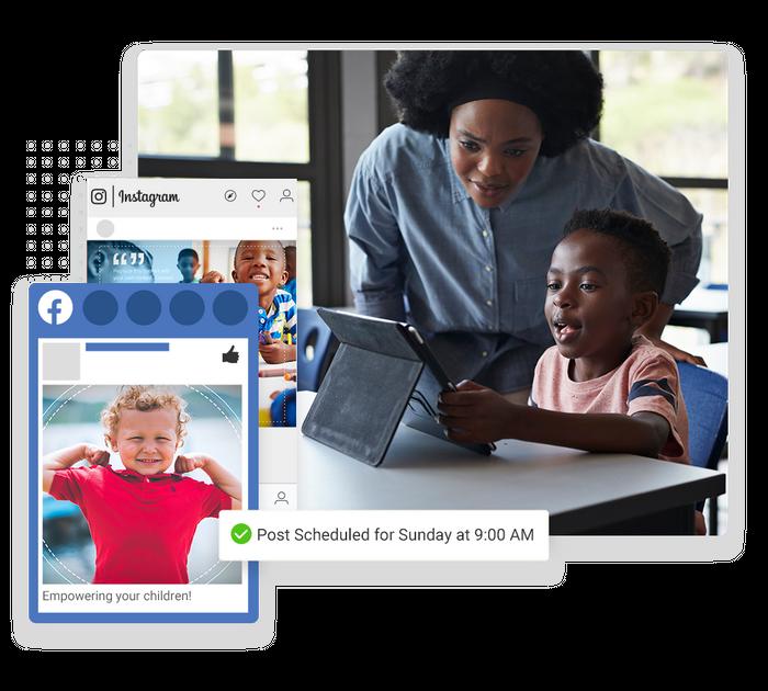 Child care social media management