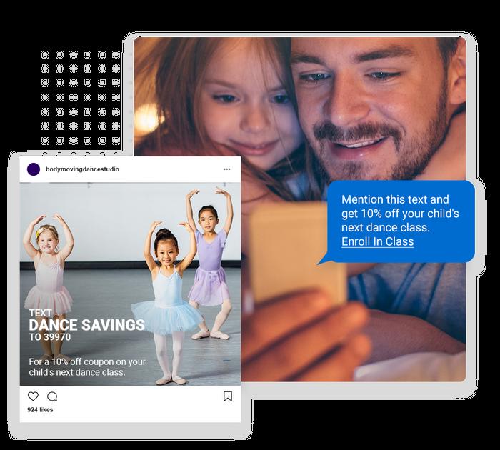 Dance studio text message marketing