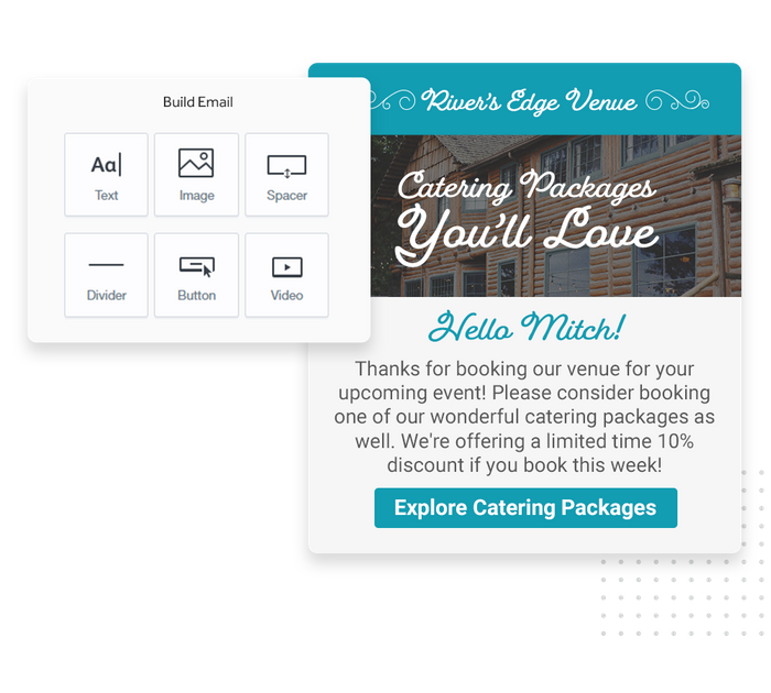 venue email marketing