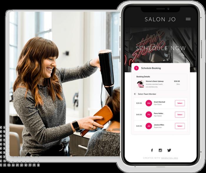Hair salon website online booking
