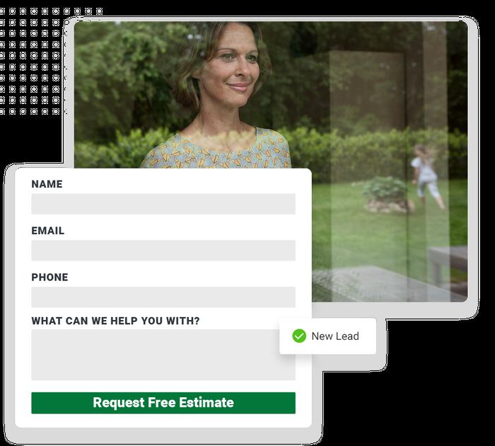 landscaping website forms