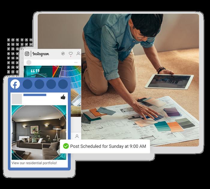 painter social media marketing