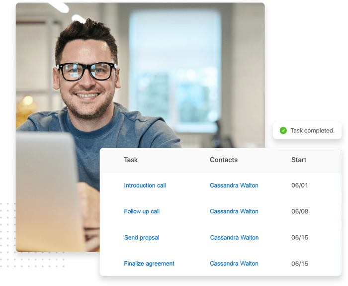 Small business CRM contacts