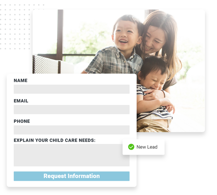 Child care website forms