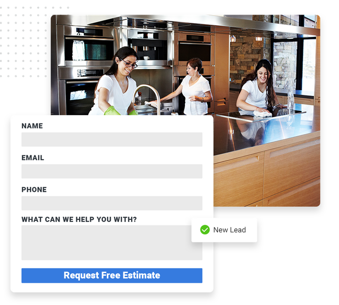 House cleaning website forms