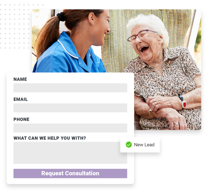 Assisted living website forms