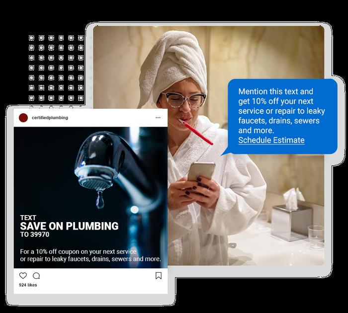 plumber text message marketing