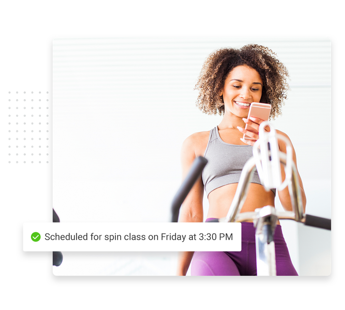 Fitness scheduling software