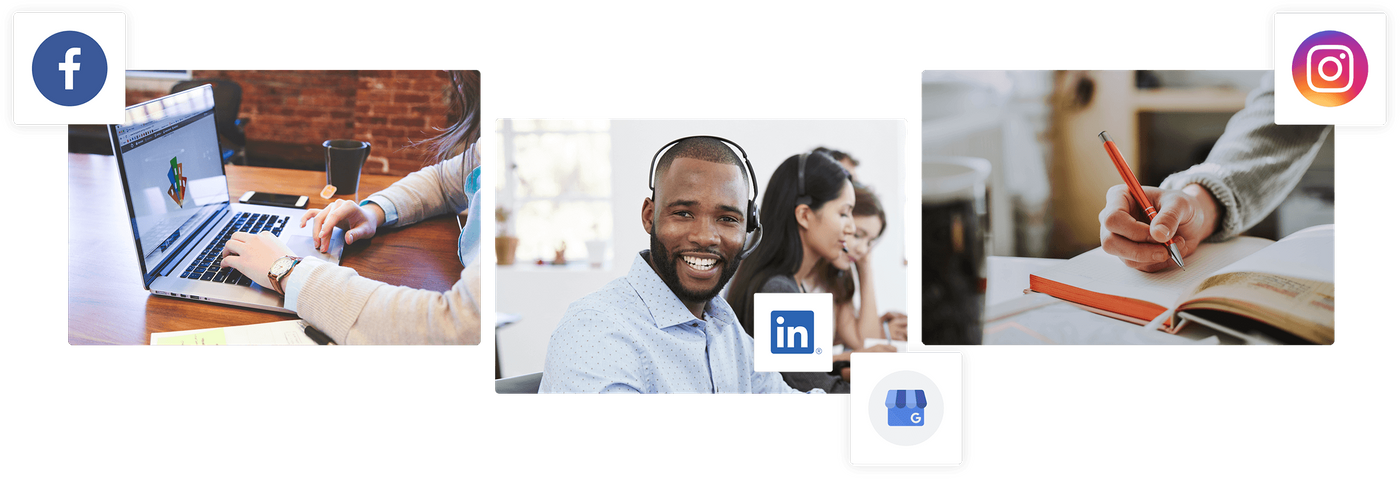 Social media management banner