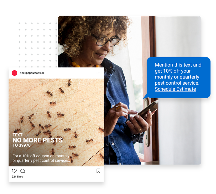pest control text message marketing