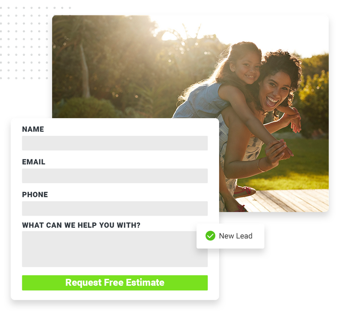 lawn care website forms