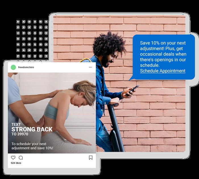 Chiropractor text message marketing