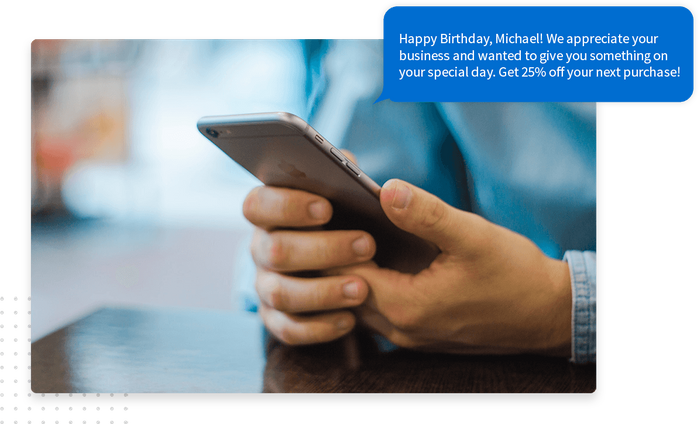 Birthday marketing text message