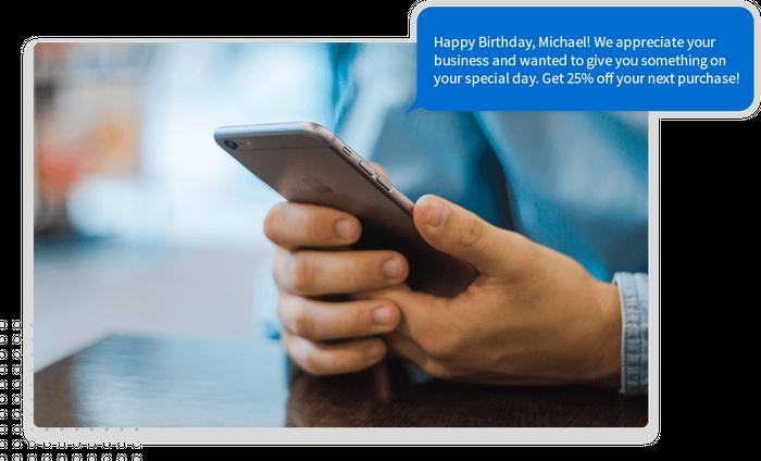Birthday marketing text message