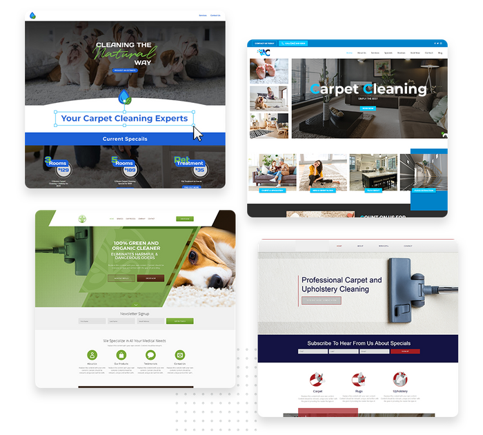 Carpet cleaning websites