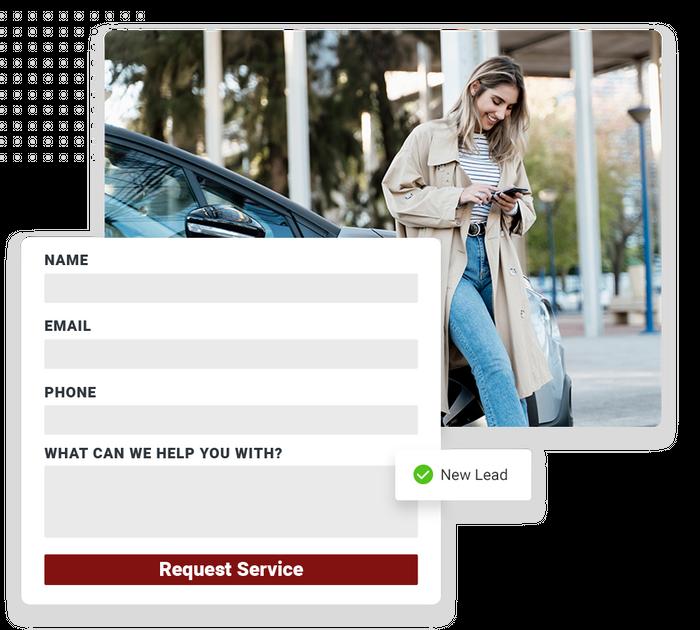 Auto shop website forms