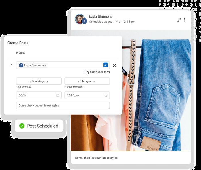 Retail social media scheduler