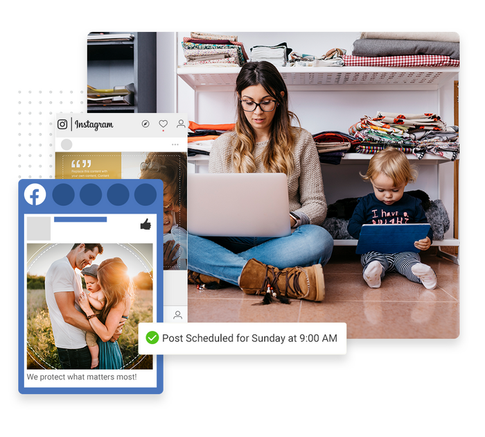 insurance social media management