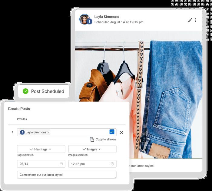 Retail social media management