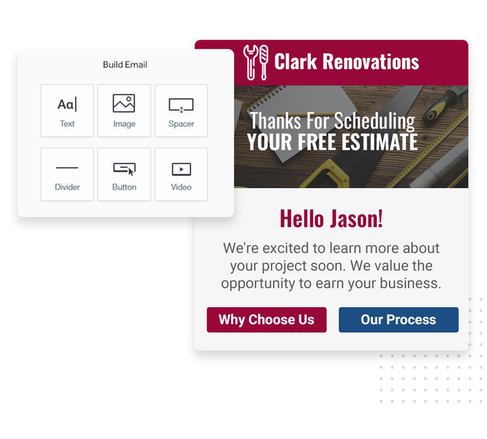 Contractor email marketing