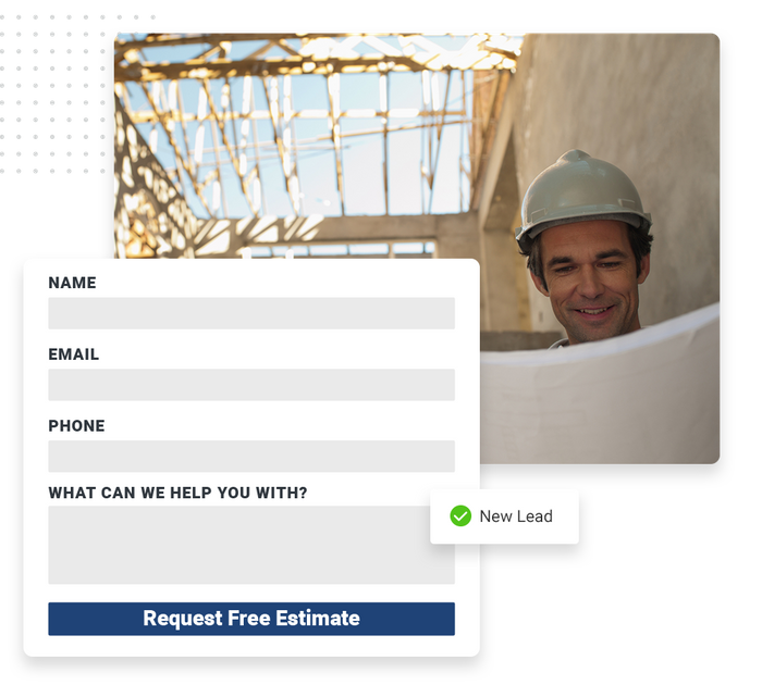 roofing website forms