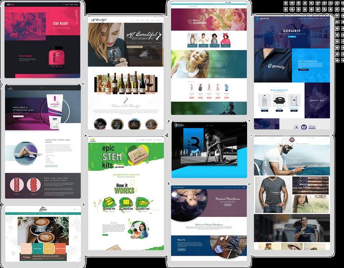 E-commerce website design templates