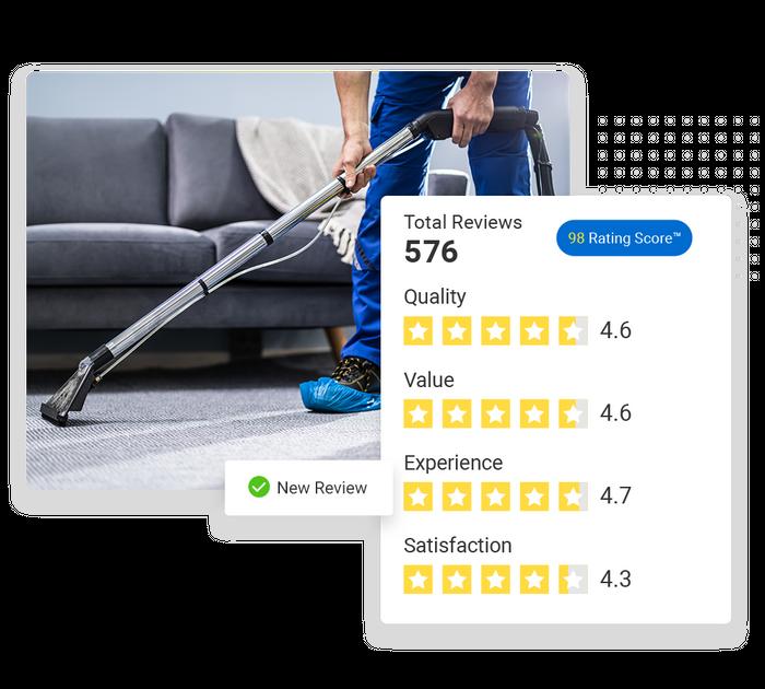 Carpet cleaning reputation management