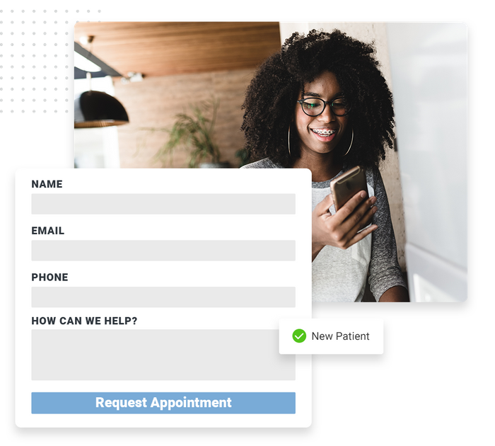 Dentist website forms