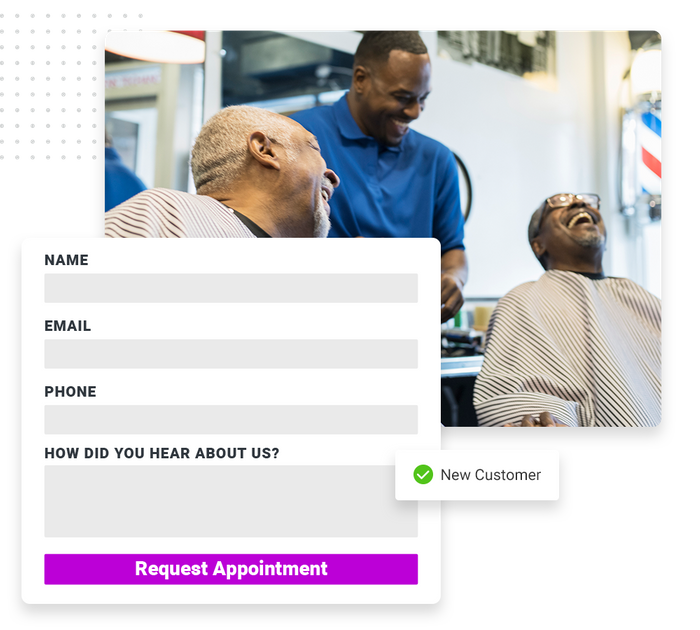 salon website forms